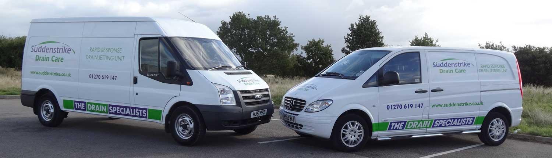 Suddenstrike Cheshire | Draincare | Vans nose to nose