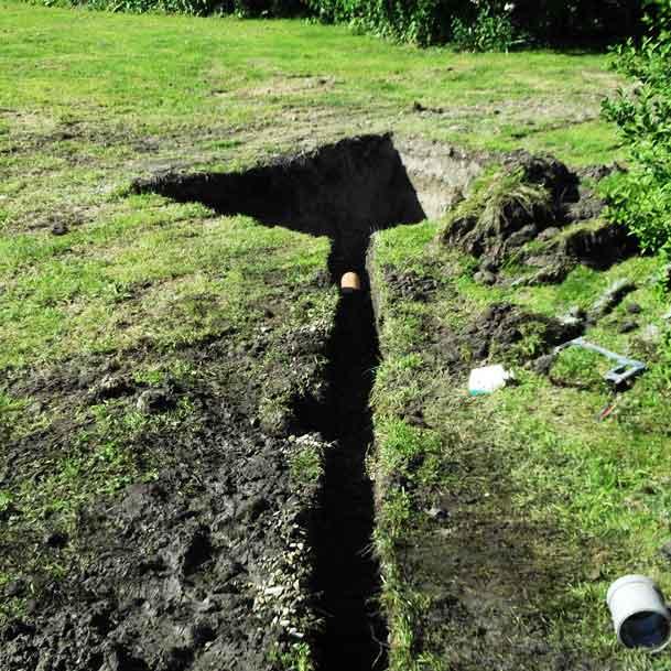 Suddenstrike Cheshire | Draincare | Channel dug in field